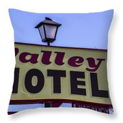 Valley Motel Throw Pillow