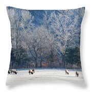 Valley Of Elk Throw Pillow