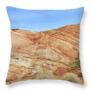 Valley Of Fire - Fire Wave Panorama Throw Pillow