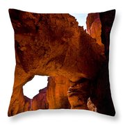 Valley Of Fire Arch Throw Pillow