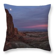 Valley Of Fire Moonrise Throw Pillow