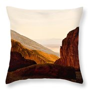 Valley Of Fire Morning Sun Throw Pillow
