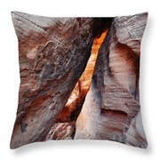 Valley Of Fire Mouse's Tank Canyon Throw Pillow