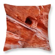 Valley Of Fire Mouse's Tank Sandstone Wall Throw Pillow