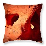 Valley Of Fire Nevada Desert Beehives Throw Pillow