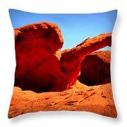 Valley Of Fire Nevada Desert Throw Pillow