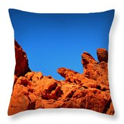 Valley Of Fire Nevada Desert Rock Lizards Throw Pillow