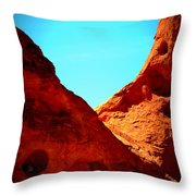 Valley Of Fire Nevada Desert Sand People Throw Pillow