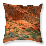 Valley Of Fire Red Sandstone Cliffs Throw Pillow