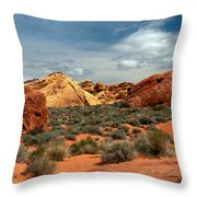 Valley Of Fire Throw Pillow by Robert Bales