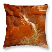 Valley Of Fire Rock Formation Throw Pillow