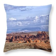 Valley Of Fire Vista Throw Pillow