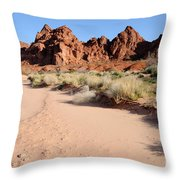 Valley Of Fire Wash Throw Pillow by Gary Whitton