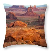 Valley Of Monuments At Dawn Throw Pillow