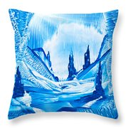 Valley Of The Castles Painting Throw Pillow