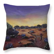 Valley Of The Hedgehogs Throw Pillow