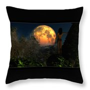 Valley Of The Moon... Throw Pillow