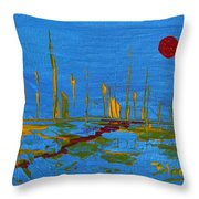 Valley Of The Red Moon Throw Pillow