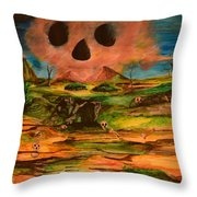 Valley Of The Skulls Throw Pillow