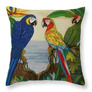 Valley Of The Wings Hand Embroidery Throw Pillow