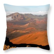 Valley Of Volcanic Cones Throw Pillow