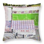 Valley Parade Stadia Art - Bradford City Fc Throw Pillow