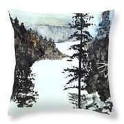 Valley Snow Throw Pillow