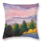 Valley Storm 8 Throw Pillow