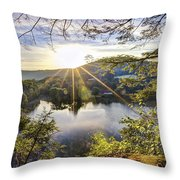 Valley Sunrise Throw Pillow