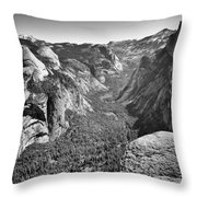 Valley View At Glacier Point Throw Pillow