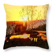 Valley View Horses Throw Pillow
