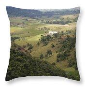 Valley View Of  Atherton Tableland Throw Pillow