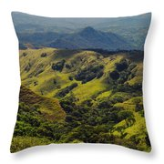 Valleys And Mountains Throw Pillow