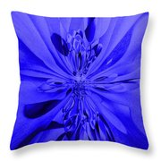 Values In Blue Throw Pillow