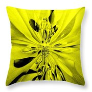 Values In Yellow Throw Pillow