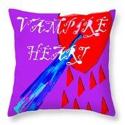 Vampire Heart Throw Pillow