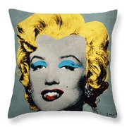 Vampire Marilyn Throw Pillow