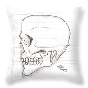 Vampire Skull Throw Pillow