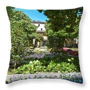 Van Gogh - Courtyard In Arles Throw Pillow