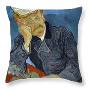 Van Gogh Dr Gachet Throw Pillow