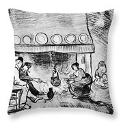Fireplace, 1889 Throw Pillow