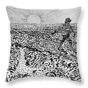Le Semeur Throw Pillow