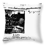 Van Gogh Letter Throw Pillow