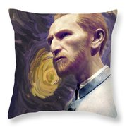 Van Gogh Portrait Throw Pillow