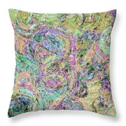 Van Gogh Style Abstract I Throw Pillow