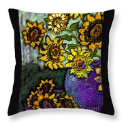 Van Gogh Sunflowers Cover Throw Pillow