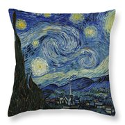 Van Gogh The Starry Night Throw Pillow