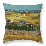 Van Gogh Wheatfield 1888 Throw Pillow