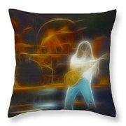 Van Halen-91-ge7a-fractal Throw Pillow