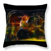 Van Halen-alex-93-gc5-fractal Throw Pillow